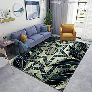 Area Runner Rug Soft Indoor Nursery Rug Non-Slip Carpet for Living Room Movie Study Rug Yoga Pad Floor Accessories Home De...