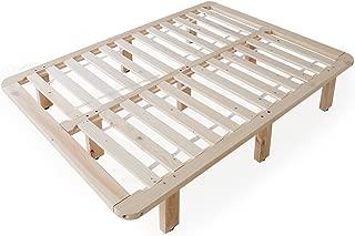 LOWYA ベッド すのこベッドフレーム 天然木 ハイタイプ クイーン おしゃれ
