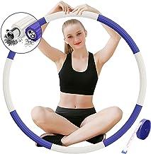 DUTISON Hula Hoop Gewogen Fitness - Verstelbare Gewatteerde Hoola Hoop voor Volwassenen Oefening Trainingen GYM Vrouwen Ma...