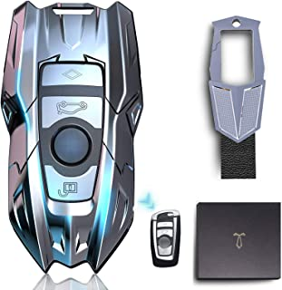 Autosleutel Cover voor BMW, Compatibel met Keyless Afstandsbediening Smart Key 1 3 4 5 6 7 Serie en X3 X4 M2 M3 M4 M5 M6 A...
