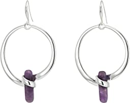 Robert Lee Morris - Amethyst and Silver Gypsy Earrings