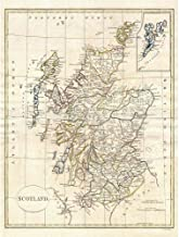 Wee Blue Coo 1799 Clement Cruttwell Map Scotland Vintage Unframed Wall Art Print Poster..