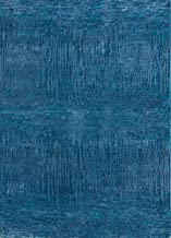 Jaipur Rugs Modern Blue 3X5 Feet Wool and Bamboo Silk Abstract Rug and Carpet