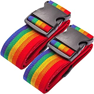 Oniche Luggage Straps Heavy Duty Travel Luggage Strap 2 Pcs Adjustable Suitcase Belts Travel Accessories