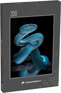 monpuzzlephoto Puzzle 200 pièces Serpent vipère venimeux - Série de Photos de Reptiles et de Serpents - Puzzles Classiques...