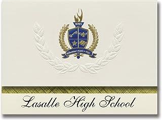 Signature Announcements Lasalle High School (St. Ignace, MI) Graduation Announcements, Presidential style, Elite package o...