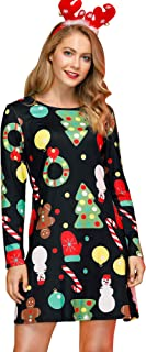 For G and PL Women's Christmas Printed Tunic Dress