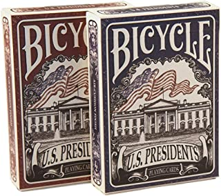 Bicycle US Presidents Red Republican Tuck Case Playing Cards