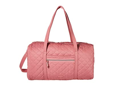 Vera Bradley Iconic Performance Twill Lay Flat Travel Duffel (Strawberry Ice) Carry on Luggage