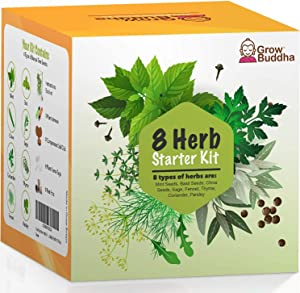Grow Your Own Gardening Kit – Easily Grow Your own Plants with Our Complete Beginner Friendly Seeds Starter Kit – Unique Gift Idea (8 Herbs Kit)