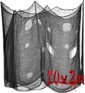 10 Mx2 M Scary Fabric Scary Cheese Cloth, Black Creepy Cloth, Halloween decoratie, zwarte griezelige doek, Halloween spinn...