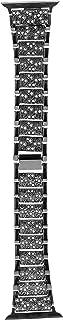 سوار بديل لساعة ابل ذات سوار الكريستال من مارغون، طول السوار 42 ملم يمنحك الراحة عند وضع الساعة ولا يسبب الحساسية وهو انيق...