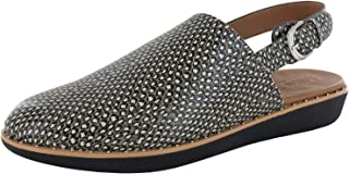 Womens Sage Dotted Snake Leather Slingback Shoes