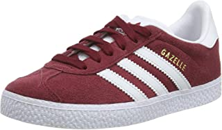 Gazelle C Collegiate Burgundy Suede Junior Trainers Shoes
