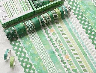 PBM デザインマスキングテープセット 緑 デザインマステ かわいい おしゃれ パターン 柄マステ 緑 植物 木々 グリーン