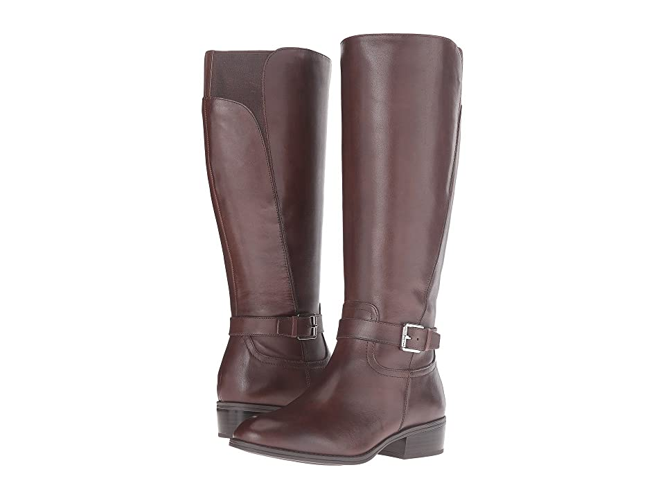 LAUREN Ralph Lauren Makenzie Wide Calf (Dark Brown Burnished Calf) Women