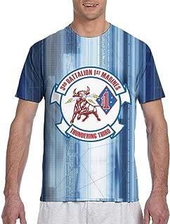 US Marine Corps 3rd Battalion, 1st Marines Shirt Men's T Shirt Quick Drying Fabric Shirt