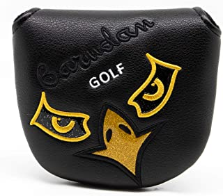 Golf Head Covers,Golf Headcovers for Mallet Putter Driver Fairway Woods Hybrid,Putter Covers Mallet with Magnetic for Odyssey Scotty Cameron,Leather Golf Wood Head Covers