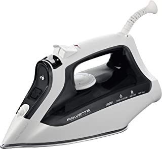 Rowenta DW2171 Access Steam 1600W 300 Hole Steam Iron of Auto Steam Thermostat Stainless Steel Soleplate, Black