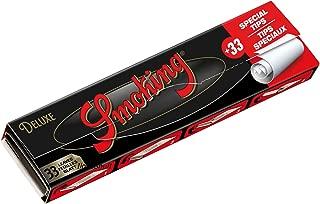 Smoking DELUXE - Papel de Liar (tamaño King Size, 12 x 33 Hojas de Papel Largo y 12 x 33 filtros, Original, tamaño King Size, Fino)