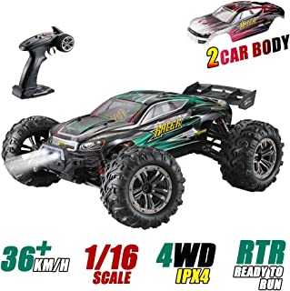 1: 16 Scale All Terrain RC Cars, 36km/H High Speed 4WD Remote Control Truck for Kids & Adults, 2.4Ghz Radio Controller, Radio Controlled Electronic Cars, Waterproof Off-Road RC Trucks(Green)