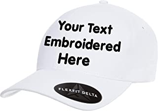 Custom Hat Flexfit 6277 6533 Delta & More Embroidered. Your Own Text Curved Bill