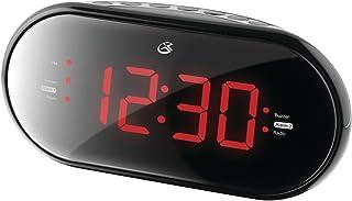 GPX C253B Dual Alarm Clock AM/FM Radio with 1.2-Inch Red LED Display (Black)