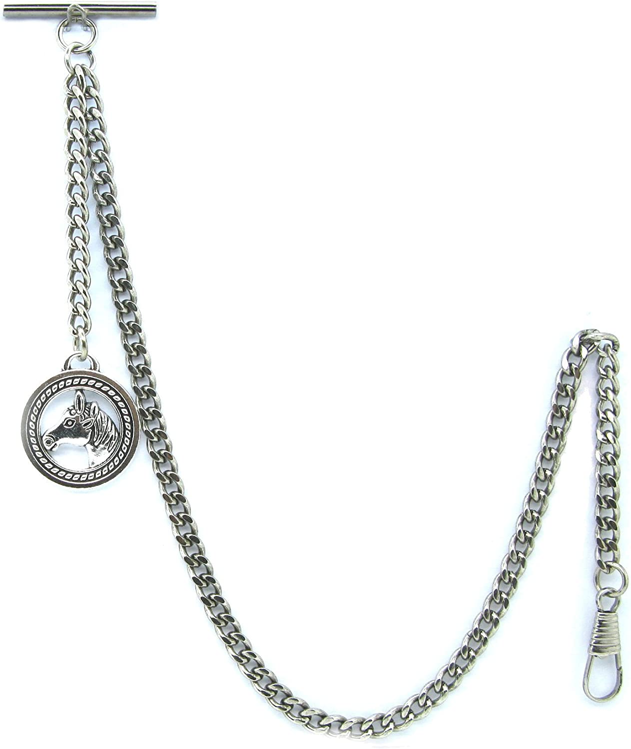 Albert Chain Silver Color Pocket Watch Men Vest Fashion for Max 61% OFF Chains