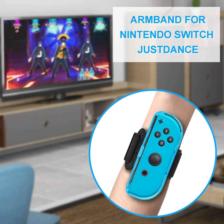 FYOUNG Correa para Pierna para Ring Fit Adventure Nintendo Switch y Banda Elástica Ajustable para Just Dance 2020 2019 2018 Switch: Amazon.es: Electrónica