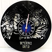 The Walking Dead Wall Clock Made from 12 inches / 30 cm Vintage Vinyl Record | The Walking Dead Gift for Men Boys Husband | Rick Grimes Gift | The Walking Dead Merchandise