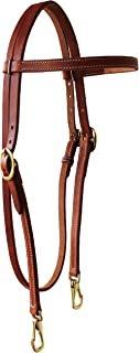 Horse Western Amish USA Hermann Oak Leather Headstall with Snap Ends 975H101