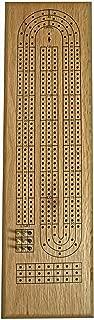 WE Games- Classic Wooden Cribbage Board Game Set- Solid Oak