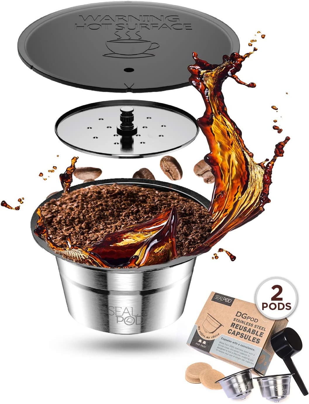SEALPOD Dolce Gusto Reusable Capsules Coffee Pods Refillable Co safety Japan Maker New