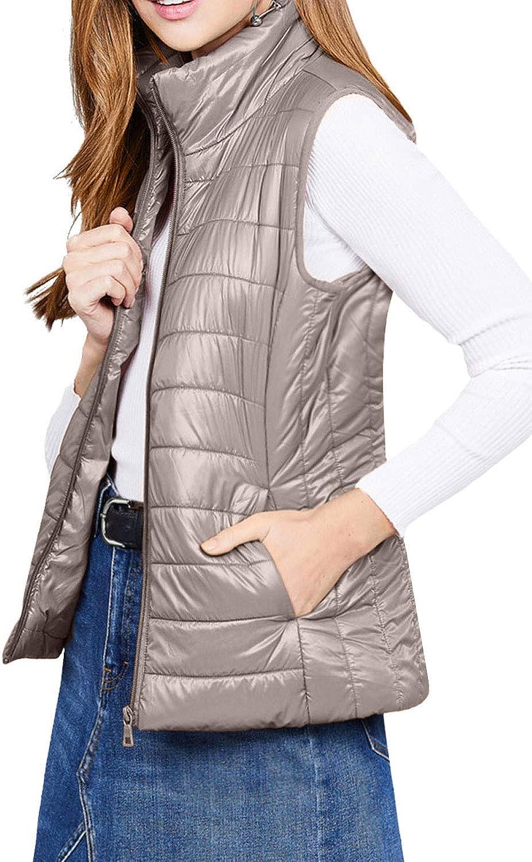 J.LOVNY Womens Lightweight Quilted Warm Zip Vest