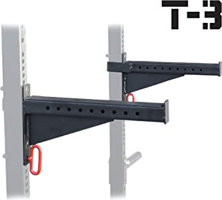 TITAN FITNESS Spotter Arms for T-3 HD Power Rack with 2x3 Tubes Bench Press Squat Lift Safety