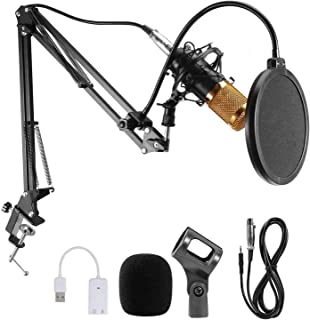 JORAGO Condenser Microphone Set, Professional Microphone Kit with Adjustable Mic Suspension Scissor Arm, BM-800 Mic match ...