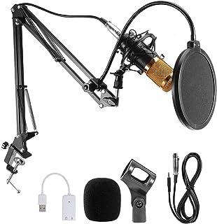 JORAGO Condenser MicrophoneSet, Professional MicrophoneKit with Adjustable MicSuspension Scissor Arm, BM-800 Mic match ...