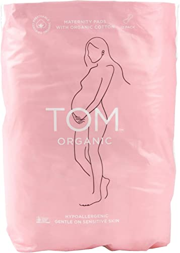 Tom Organic Maternity Pads, 12 count, Pack of 12