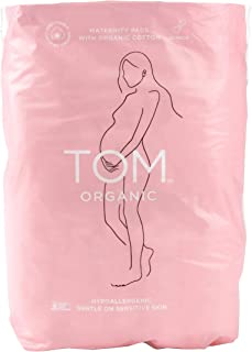 TOM Organic Maternity Pads with Certified Organic Cotton, Wingless and Elasticized, Postnatal, Maternity, Pack of 12