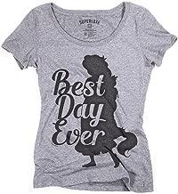 Superluxe Clothing Womens Best Day Ever Rapunzel Tri-Blend Scoop Neck T-Shirt