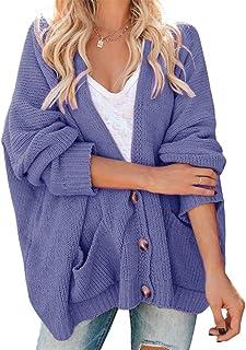 YONYWA Womens Plus Size Knit Cardigan Sweaters Oversized...