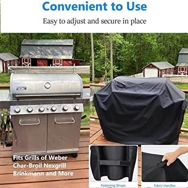 KEESHA 75 x 24 x 44 Inch Grill Cover Heavy Duty BBQ Gas Grill Cover for Char-Broil Nexgrill Weber and More Gas Grills - 600D