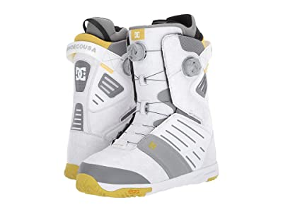 DC Judge Dual BOA(r) Snowboard Boots (White) Men