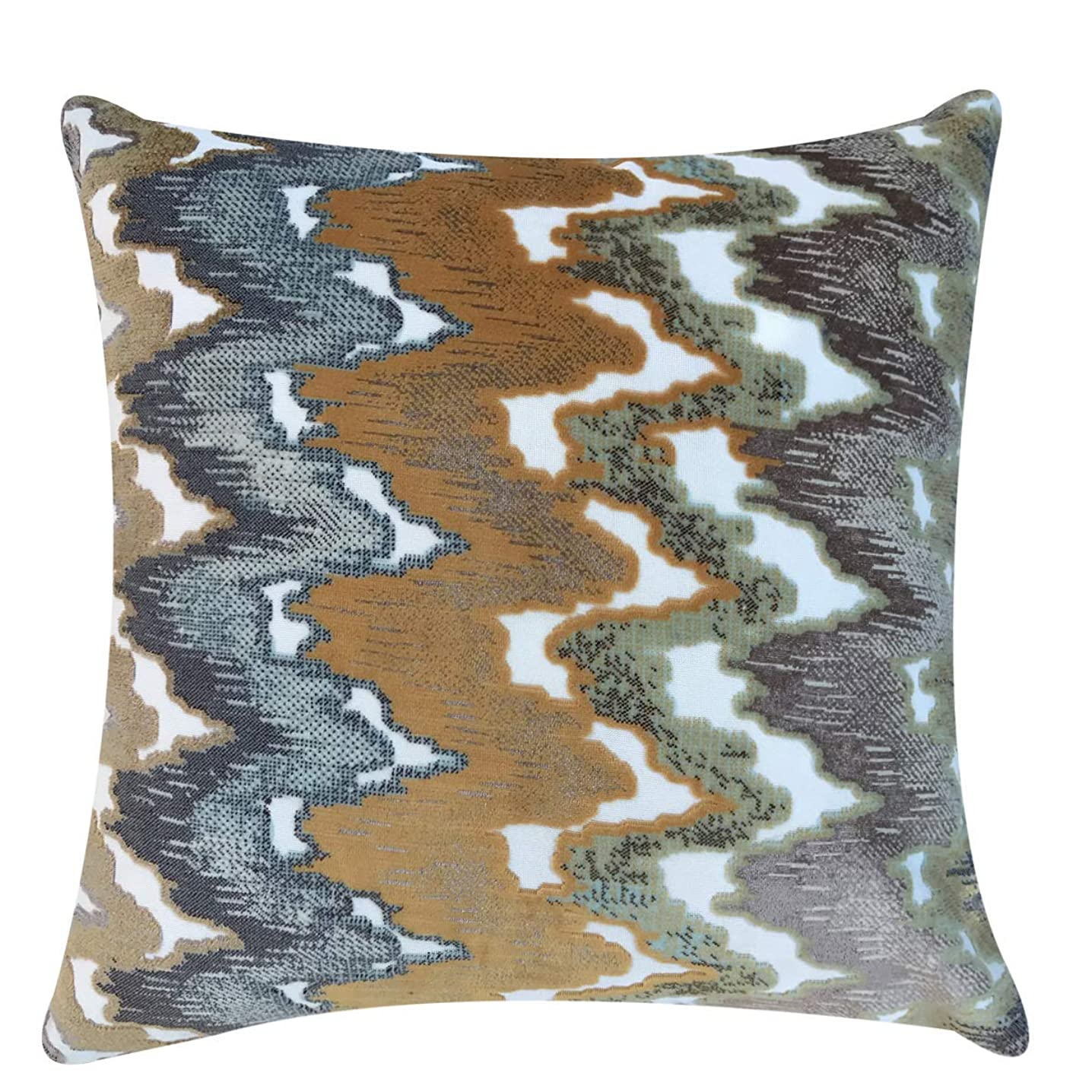 ナイトスポット帝国休眠シルバーフロストカットベルベットソフト装飾枕カバー。 18''x18'' イエロー YSCVyellow