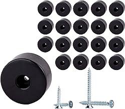 (Pack van 20 stuks) Meubelpoten rond, Materiaal Kunststof. Schroeven inbegrepen (twee maten)