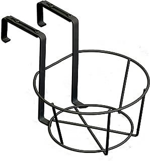 Panacea 89049 Ring Over The Deck Adjustable Flower Pot Holder, Black, 8-Inch