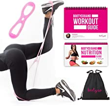 BootyCo Authentic Booty Building Band Workout Resistance Band Program- Targeted Booty Workout to Lift, Sculpt & Tone- Brazilian Butt Lift Booty Building Band System! Includes Workout Book & Gym Bag.