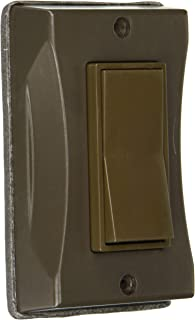 Hubbell 5123-2 1-Gang Weatherproof Cover, Vertical, Decorator, Bronze, Shrink,