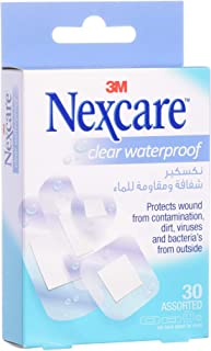 3M Nexcare CWP-30 Clear Waterproof Bandages, Assorted