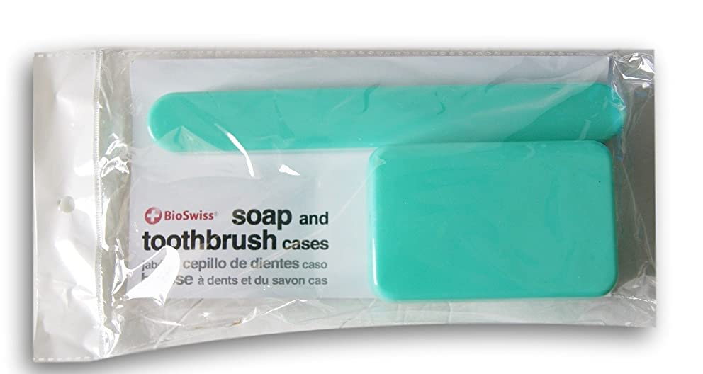 コック推進、動かす醜いBioSwiss Soap、歯ブラシTravel Cases ブルー
